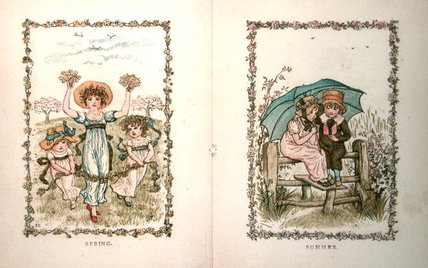 Spring And Summer by Kate Greenaway (1846-1901, United Kingdom)