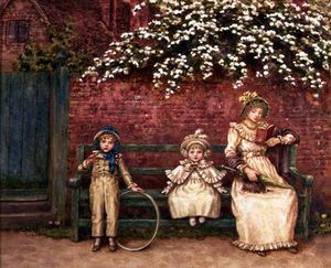Kate Greenaway - The Garden Seat