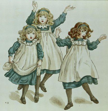 The Strains Of Polly Flinders by Kate Greenaway (1846-1901, United Kingdom)