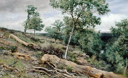 On The Gretna Looking Down The River by Keeley Halswelle (1832-1891, United Kingdom)