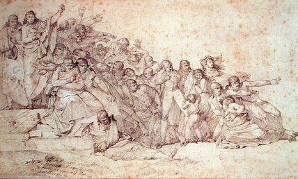 Massacre Of The Patriots At The Champ De Mars, - (17th) by Louis Lafitte (1770-1828, France)