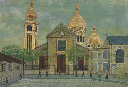 Eglise Saint Pierre De Montmartre by Louis Vivin (1861-1936, France)
