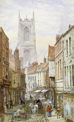 A View Of Irongate, Derby by Louise Rayner (1832-1924, United Kingdom)