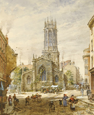 All Saints Pavement, York by Louise Rayner (1832-1924, United Kingdom)