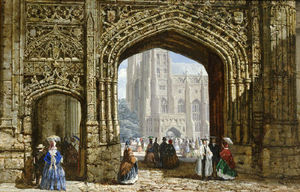 Louise Rayner - Canterbury Cathedral