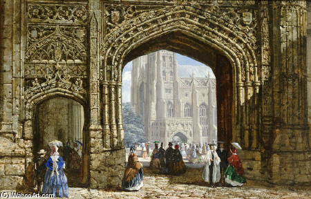 Canterbury Cathedral by Louise Rayner (1832-1924, United Kingdom)