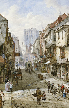 Foss Gate, York by Louise Rayner (1832-1924, United Kingdom)