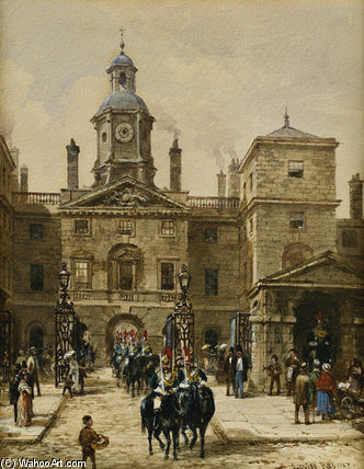 Horse Guards Parade by Louise Rayner (1832-1924, United Kingdom)