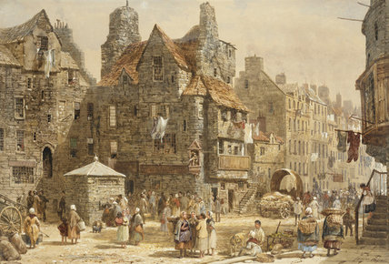 John Knox's House, Edinburgh by Louise Rayner (1832-1924, United Kingdom)