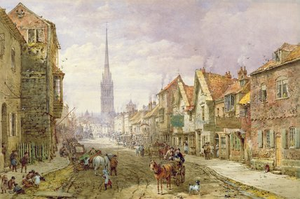 Salisbury by Louise Rayner (1832-1924, United Kingdom)