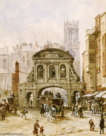 Temple Bar, London by Louise Rayner (1832-1924, United Kingdom)