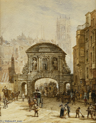 Temple Bar by Louise Rayner (1832-1924, United Kingdom)