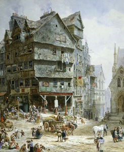 Louise Rayner - The High Street From The West ..