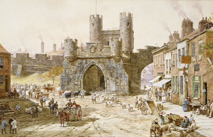 Walgate Bar, York by Louise Rayner (1832-1924, United Kingdom)