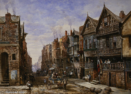 Watergate Street From The Corner Of Crook by Louise Rayner (1832-1924, United Kingdom)