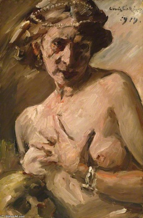 Magdalen With Pearls In Her Hair by Lovis Corinth (Franz Heinrich Louis) (1858-1925, Netherlands)