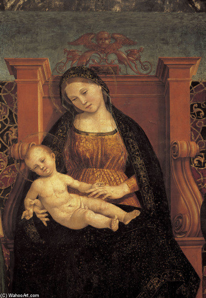 Madonna & Child by Luca Signorelli (1445-1523, Italy)