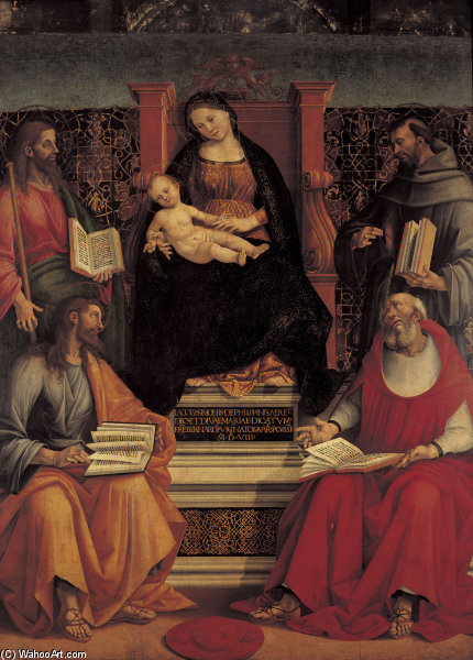 Mary W.Child & Saints by Luca Signorelli (1450-1523, Italy)