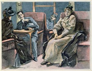 Madeleine Jeanne Lemaire - Scene In A Train