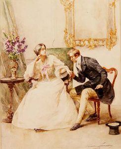 Madeleine Jeanne Lemaire - The Suitor