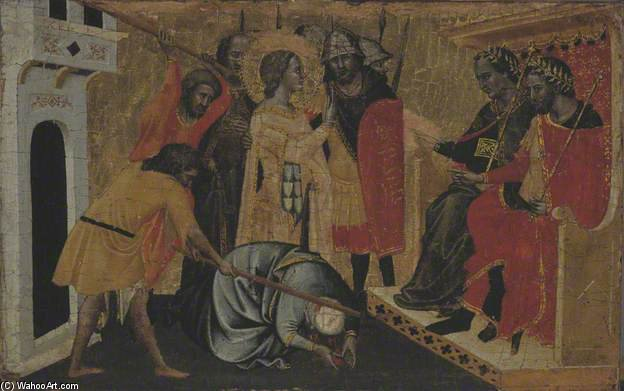 A Martyrdom by Master Of San Lucchese | Paintings Reproductions Master Of San Lucchese | ArtsDot.com