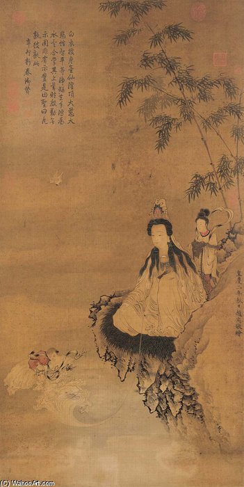 Guanyin Acolytes by Master Of The Parrot