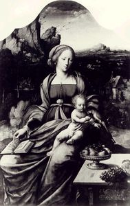 Master Of The Parrot - Madonna And Child With A Parrot Against The Background Of Landscape