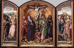 Master Of The St Bartholo.. - Crucifixion Altarpiece