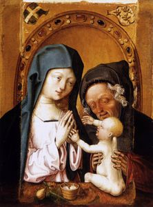 Master Of The St Bartholo.. - Holy Family