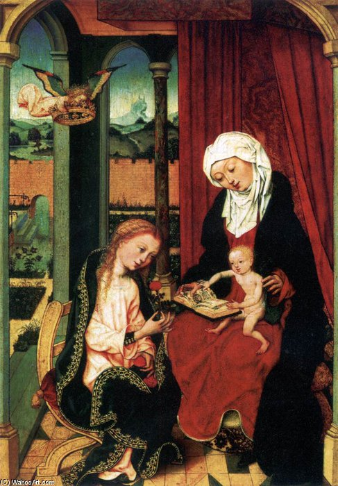 Virgin And Child With St Anne by Master Of The St Bartholomew Altar (1450-1510, Germany)