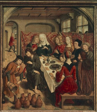 Wedding At Cana by Master Of The St Bartholomew Altar (1450-1510, Germany)