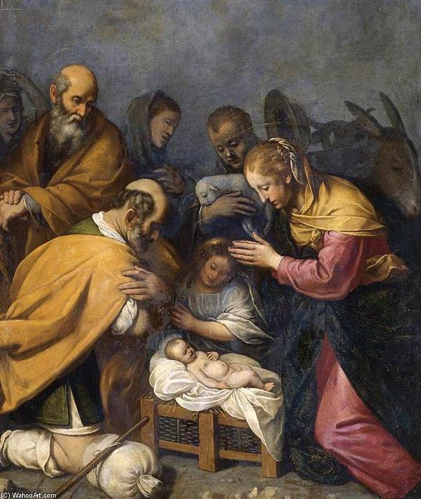 The Adoration Of The Shepherds by Matteo Rosselli (1578-1650, Italy)