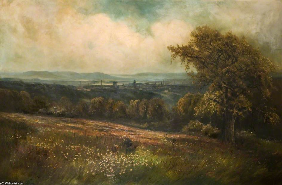 Leek From Ladderedge by Henry Hadfield Cubley (1858-1934, United Kingdom)