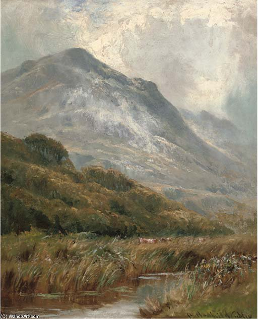Morning Mists, Barmouth by Henry Hadfield Cubley (1858-1934, United Kingdom)