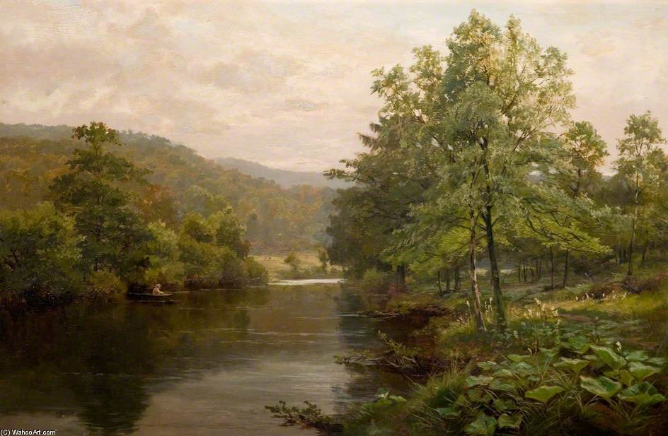 On The Derwent, Derbyshire by Henry Hadfield Cubley (1858-1934, United Kingdom)