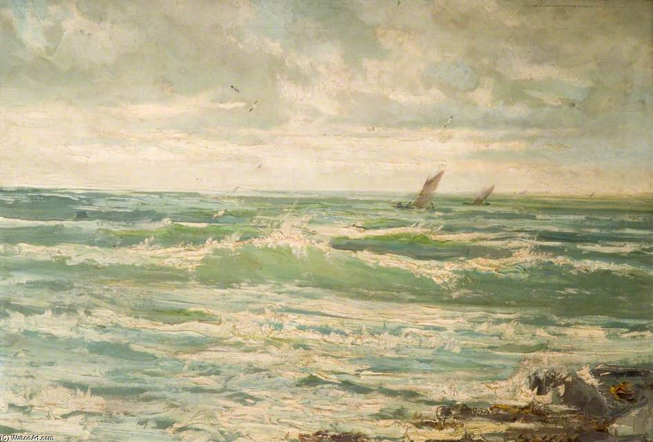 The Incoming Tide by Henry Hadfield Cubley (1858-1934, United Kingdom)