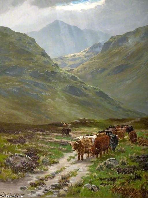 The Pass Of Glencoe by Henry Hadfield Cubley (1858-1934, United Kingdom)