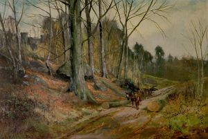 Henry Hadfield Cubley - The Timber Clearing At Matlock..