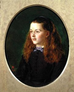 Henry Nelson O'neil - Portrait Of Fanny Frith