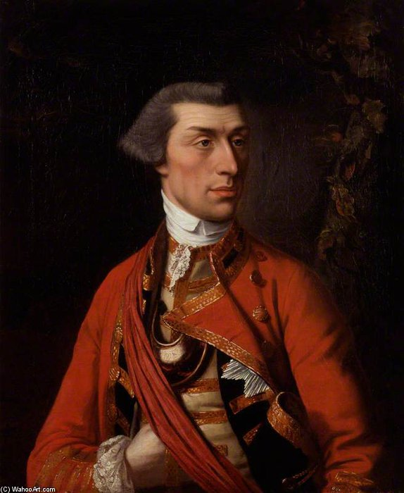 Sir Eyre Coote by Henry Robert Morland (1716-1797, United Kingdom) | Museum Art Reproductions | ArtsDot.com