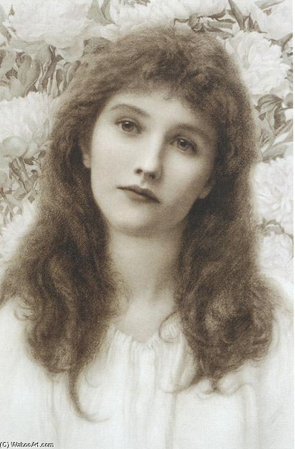 Portrait by Henry Ryland (1856-1924, United Kingdom)