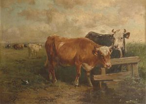 Henry Schouten - Cattle In A Pasture
