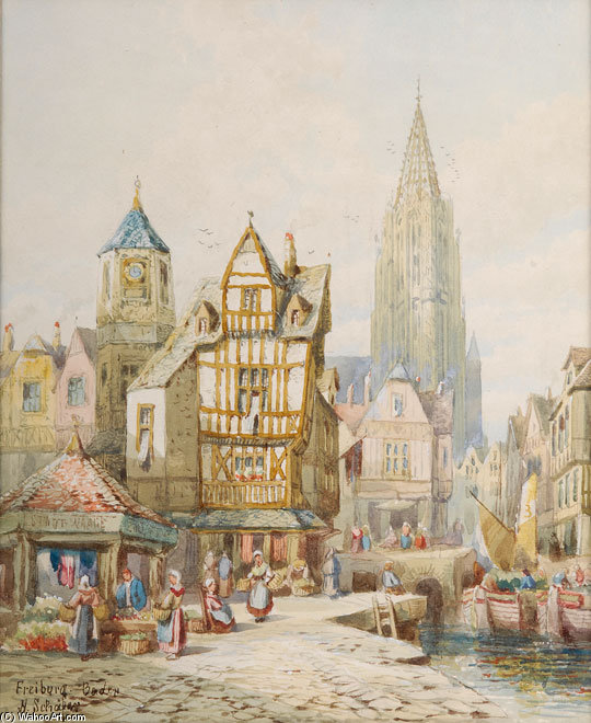 Freiburg by Henry Thomas Schafer (1873-1915, France)