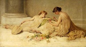Henry Thomas Schafer - Weaving The Garland