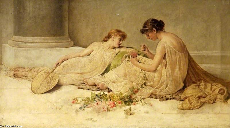 Weaving The Garland by Henry Thomas Schafer (1873-1915, France)