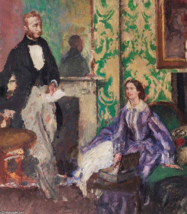 Order Art Reproduction : Conversation Piece by Henry Tonks (1862-1937, United Kingdom) | ArtsDot.com
