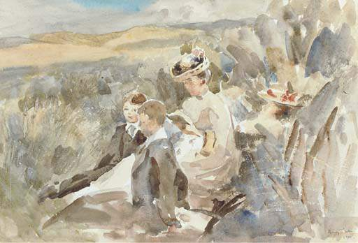 Resting Among The Sand Hills by Henry Tonks (1862-1937, United Kingdom) | Art Reproduction | ArtsDot.com