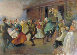 Henry Tonks - Russian Soldiers Dancing With Peasant Women
