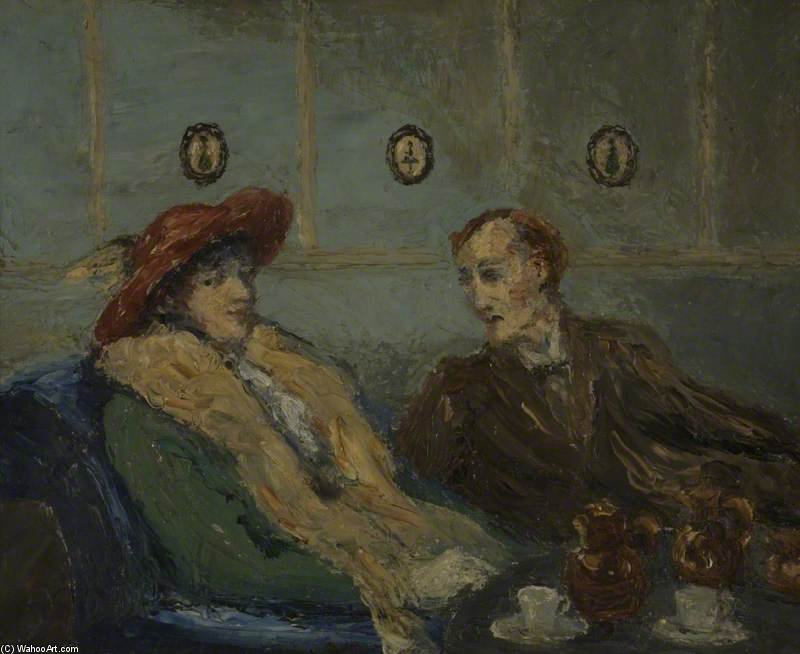 The Betrothal by Henry Tonks (1862-1937, United Kingdom) | Museum Quality Reproductions | ArtsDot.com