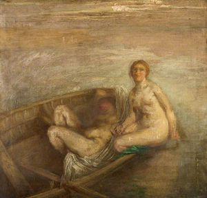 Henry Tonks - Two Girls In A Boat